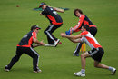 England practise slip catching ahead of the final Test against India, The Oval, August 17, 2011