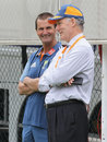 Andrew Hilditch and Greg Chappell at Australia's net session, Brisbane, November 24, 2010