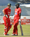 Brendan Taylor and Elton Chigumbura during their 94-run stand