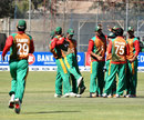 Bangladesh celebrate the fall of a wicket, Zimbabwe v Bangladesh, 4th ODI, Bulawayo, August 19, 2011