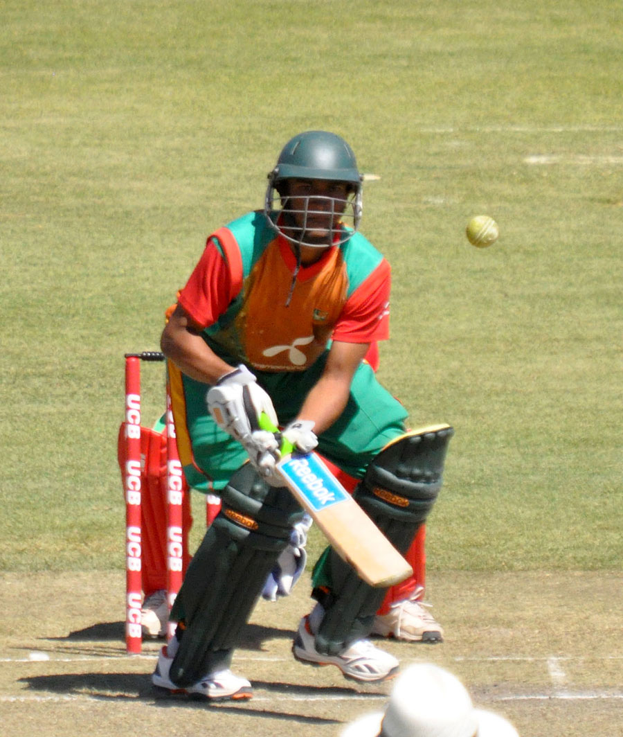 Shakib Al Hasan put in a solid all-round performance, helping Bangladesh win the final ODI against Zimbabwe in Bulawayo © Zimbabwe Cricket