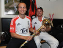 Jonathan Trott and Ian Bell get their hands on the mace, England v India, 4th Test, The Oval, 5th day, August 22, 2011