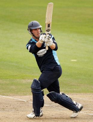 Joe Gatting swings behind square leg during his 46, Sussex v Indians, Tour match, Hove, August 25, 2011