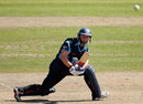 Matt Machan sweeps in the air, Sussex v Indians, Tour match, Hove, August 25, 2011