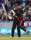 Will Jefferson booked Leicestershire a place in the final by smashing three boundaries in the Super Over , Lancashire v Leicestershire, Friends Life t20, 1st Semi Final, Edgbaston, August 27 2011