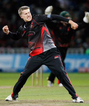 Josh Cobb took four wickets in a man-of-the-match performance that gave Leicestershire the title, Leicestershire v Somerset, Final, Friends Life t20, Edgbaston, August 27 2011