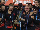 Leicestershire's players, including Matthew Hoggard, Paul Nixon and James Taylor, celebrate victory, Leicestershire v Somerset, Final, Friends Life t20, Edgbaston, August 27 2011