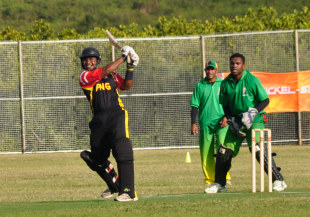 Tony Ura on the attack, PNG v Vanuatu, Pacific Games, New Caledonia, August 28, 2011