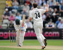 Tom Smith bowled Alexei Kervezee for 1, Worcestershire v Lancashire, New Road, August 31 2011