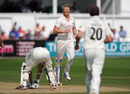 James Cameron was bowled for 98 by Glen Chapple, Worcestershire v Lancashire, County Championship, Division One, New Road, September 1, 2011