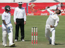 Sohail Khan in his delivery stride, Zimbabwe v Pakistan, only Test, Bulawayo, 1st day, September 1, 2011