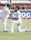 Sohail Khan gets a bit of attention, Zimbabwe v Pakistan, only Test, Bulawayo, 2nd day, September 2, 2011