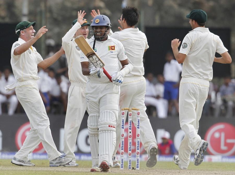 srilanka vs australia 1st test day 3