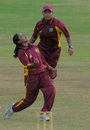 Anisa Mohammed celebrates one of four wickets against Pakistan