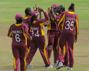 West Indies celebrate their 50-run win over Pakistan