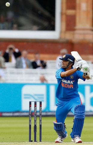Rahul Dravid slaps one towards point, England v India, 4th ODI, Lord's, September 11, 2011