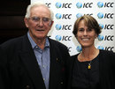 ICC Hall of Fame inductees Alan Davidson and Belinda Clark strike a pose, ICC Awards, London, September 12, 2011