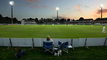 There weren't many spectators in to watch the floodlit Championship match