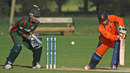 Tom de Grooth is bowled by Duncan Allan for 22, Netherlands v Kenya, Voorburg, September 12, 2011