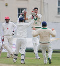 Albert Van Der Merwe celebrates a wicket, Ireland v Canada, Intercontinental Cup, 2nd day, Dublin, September 14, 2011