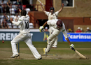 Gemaal Hussain was run out for a duck to end Somerset's innings