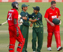 Saeed Ajmal and Rameez Raja celebrate Pakistan's win, Zimbabwe v Pakistan, 1st Twenty20, Harare, September 16, 2011