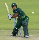 Rameez Raja lines up a big shot, Zimbabwe v Pakistan, 1st Twenty20, Harare, September 16, 2011