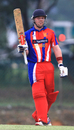 Jersey's Edward Farley acknowledges applause for his half-century, Guernsey v Jersey, World Cricket League Division Six, Kuala Lumpur, September 17 2011
