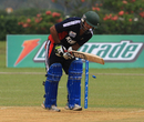 Sibtain Raza was bowled by Suresh Navaratnam for single figures, Malaysia v Kuwait, World Cricket League Division Six, Kuala Lumpur, September 17 2011
