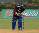 Sibtain Raza was bowled by Suresh Navaratnam for single figures, Malaysia v Kuwait, World Cricket League Division Six, Kuala Lumpur, September 17 2011