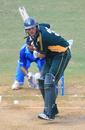 Lee Savident keeps his eye on the ball, Fiji v Guernsey, World Cricket League Division Six, Kuala Lumpur, September 18 2011