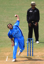 Mohammad Khan in full flow, Fiji v Guernsey, World Cricket League Division Six, Kuala Lumpur, September 18 2011