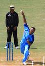 Waisake Tukana gives the ball a good rip, Fiji v Guernsey, World Cricket League Division Six, Kuala Lumpur, September 18 2011