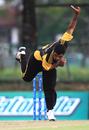 Hammad Ullah Khan bowls for Malaysia, Malaysia v Nigeria, World Cricket League Division Six, Kuala Lumpur, September 18 2011
