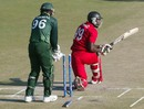 Cephas Zhuwao was bowled by Mohammad Hafeez, Zimbabwe v Pakistan, 2nd Twenty20, Harare, September 18, 2011