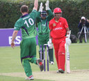 John Mooney bowls Nitish Kumar, Ireland v Canada, Intercontinental Cup ODI, Dublin, September 19, 2011