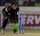 Steve Snell behind the stumps for Somerset, Auckland v Somerset, CLT20 qualifier, Hyderabad, September 20, 2011