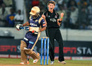 Max Waller celebrates the dismissal of Shreevats Goswami, Kolkata Knight Riders v Somerset, CLT20 qualifier, Hyderabad, September 21, 2011