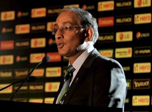Haroon Lorgat at the launch of the 2012 World Twenty20, Colombo, September 21, 2011