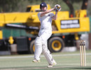 Ryan Flannigan pulls during his century, Namibia v Scotland, ICC Intercontinental Cup, Windhoek, 1st day, September 23 2011