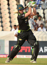 JJ Smuts plays an attacking shot, South Australia v Warriors, Champions League T20, Hyderabad, September 25, 2011