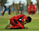 Ravi Rampaul is despondent after T&T's loss, Mumbai Indians v Trinidad & Tobago, Champions League T20, Bangalore, 26 September, 2011