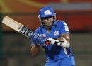 Sarul Kanwar prepares to pull, Mumbai Indians v Cape Cobras, Champions League Twenty20, Bangalore, September 30, 2011
