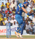 Aiden Blizzard is bowled by Stuart Clark, Mumbai Indians v New South Wales, CLT20, Chennai, October 2, 2011