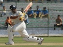 Rashmi Parida sweeps during his 85, Rajasthan v Rest of India, Irani Cup, Jaipur, 3rd day, October 3, 2011
