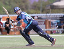 Scotland's Fraser Watts on his way to a half-century, Namibia v Scotland, 1st unofficial Twenty20, Windhoek, October 1, 2011