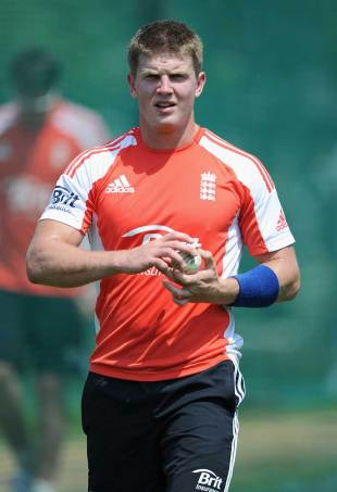 Stuart Meaker is the one uncapped player in England's squad, Hyderabad, October 5, 2011