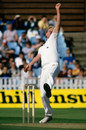 Graham Dilley in action against Pakistan, England v Pakistan, 4th Test, Edgbaston, July 24, 1987