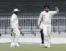 Fayyaz Ahmed celebrates a wicket, UAE v Afghanistan, Intercontinental Cup, Sharjah, 2nd day, October 6 2011