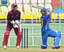 Kumar Deobrat swings one to the leg side during his 75, India Under-19s v West Indies Under-19s, Quadrangular Under-19 series, Visakhapatnam, October 7, 2011